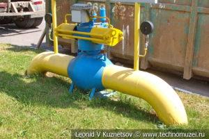 Арматура трубопровода в музее магистрального транспорта газа