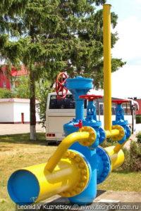 Американская задвижка с байпасами компании WKM Co в музее магистрального транспорта газа