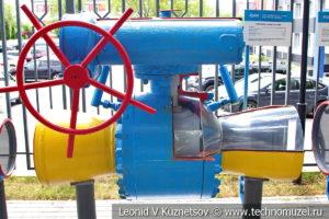Шаровой кран с ручным редукторным приводом в музее магистрального транспорта газа