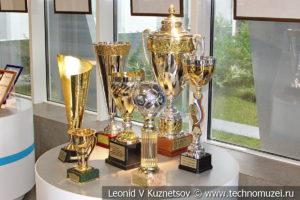 Кубки за призовые места спортивных команд Газпрома в музее магистрального транспорта газа