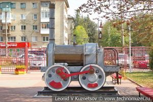 Макет паровоза Черепановых на Тульской детской железной дороге