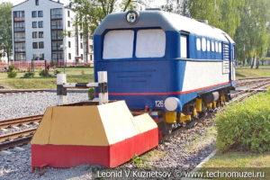 Тепловоз памятник ТУ2-126 Быстрый на Тульской детской железной дороге