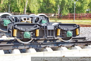 Тележка пассажирского вагона ПВ40 на Тульской детской железной дороге