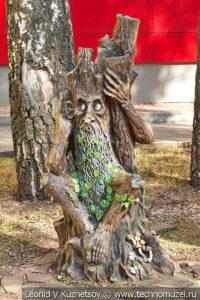Скульптура Леший на Тульской детской железной дороге