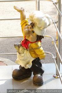 Скульптура Повар на Тульской детской железной дороге