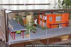 Макет станции Березки 1974 года в выставочном зале Тульской детской железной дороги