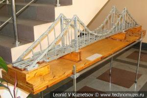 Модульный мост-конструктор в выставочном зале Тульской детской железной дороги