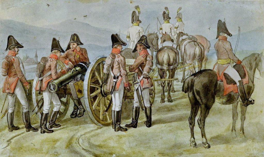 Австрийская артиллерия армии Наполеона