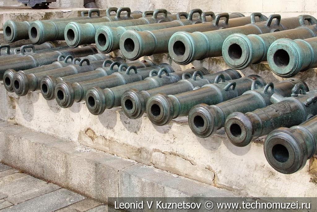 Австрийские пушки армии Наполеона в Московском Кремле