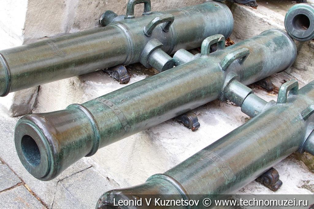 6-фунтовая французская пушка с вензелем Наполеона в Московском Кремле