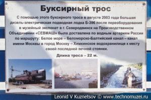Буксирный трос в Музее Военно-морского флота в Москве