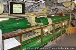 Торпедный отсек подводной лодки Б-396 в Музее Военно-морского флота в Москве