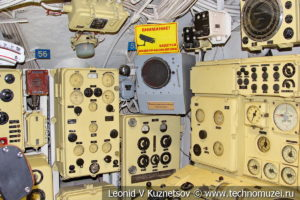 Центральный пост управления подводной лодки Б-396 в Музее Военно-морского флота в Москве
