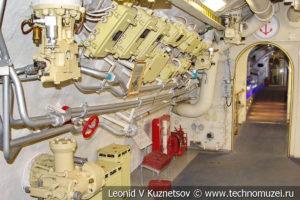 Дизельный отсек подводной лодки Б-396 в Музее Военно-морского флота в Москве