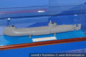 Подводная лодка Александровского (модель) в Музее Военно-морского флота в Москве