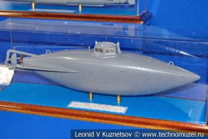 Подводная лодка Джевецкого (модель) в Музее Военно-морского флота в Москве