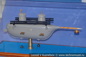 Подводная лодка Шильдера (модель) в Музее Военно-морского флота в Москве