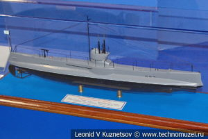Подводная лодка Минога (модель) в Музее Военно-морского флота в Москве