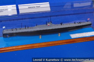Подводная лодка Краб (модель) в Музее Военно-морского флота в Москве