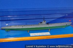 Средняя подводная лодка тип С IX-бис серии Сталинец (модель) в Музее Военно-морского флота в Москве