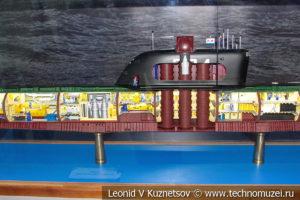 Первый советский атомный ракетоносец К-19 проекта 658 (модель) в Музее Военно-морского флота в Москве
