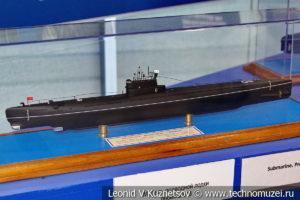 Средняя подводная лодка проекта 613 (модель) в Музее Военно-морского флота в Москве