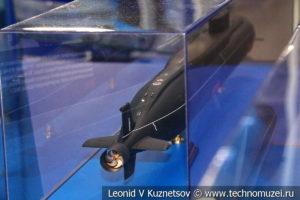 Атомный подводный ракетный крейсер стратегического назначения четвертого поколения проекта 955 Борей (модель) в Музее Военно-морского флота в Москве