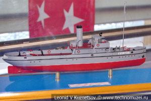 Пожарно-спасательный пароход Гаситель (модель) в Музее Военно-морского флота в Москве