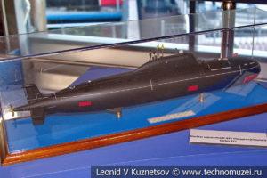 Атомная подводная лодка третьего поколения проекта 971 Щука-Б (модель) в Музее Военно-морского флота в Москве