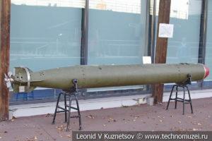 Малогабаритная акустическая самонаводящаяся торпеда МГТ-1 в Музее Военно-морского флота в Москве