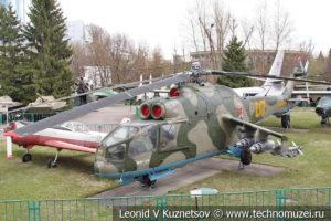 Транспортно-боевой вертолет Ми-24А в Центральном музее Вооруженных Сил