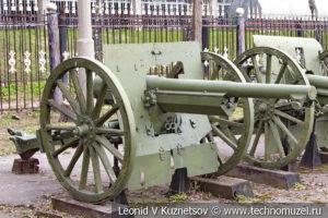 Французская 75-мм полевая пушка образца 1897 года в Центральном музее Вооруженных Сил