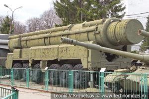 Ракетный комплекс средней дальности РСД-10 Пионер (SS-20) с баллистической ракетой 15Ж45 в Центральном музее Вооруженных Сил