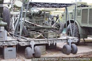 23-мм спаренная зенитная артиллерийская установка ЗУ-23 на парашютно-десантной платформе в Центральном музее Вооруженных Сил
