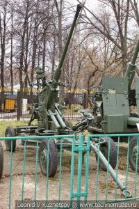 40-мм автоматическая зенитная пушка Bofors М-1 образца 1936 года в Центральном музее Вооруженных Сил