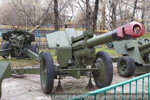 152-мм гаубица Д-1 (52-Г-536А) образца 1943 года в Центральном музее Вооруженных Сил