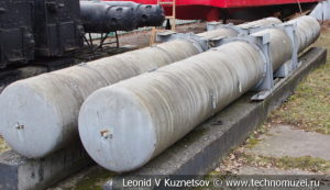 Контейнер для хранения торпед в Центральном музее Вооруженных Сил