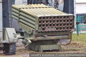 Пусковая установка 9П132 машины БМ-21 в Центральном музее Вооруженных Сил