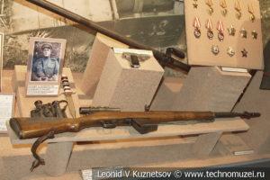 Снайперская винтовка СВТ-40 ефрейтора И.П. Зулина в Центральном музее Вооруженных Сил