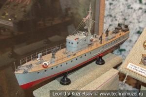 Катер-морской охотник МО-4 в Центральном музее Вооруженных Сил