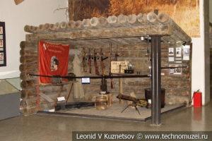 Макет партизанской землянки в Центральном музее Вооруженных Сил