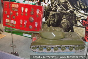 Макет тяжелого танка ИС-2 в Центральном музее Вооруженных Сил
