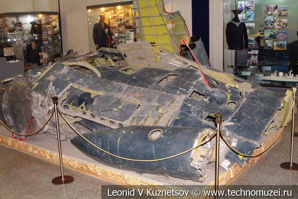 Обломки американского самолета Локхид U-2 в Центральном музее Вооруженных Сил