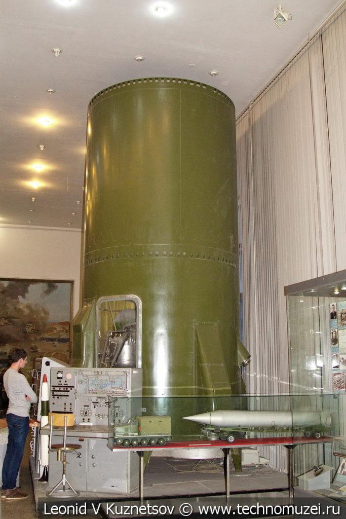 Часть второй ступени межконтинентальной баллистической ракеты Р-16 в Центральном музее Вооруженных Сил