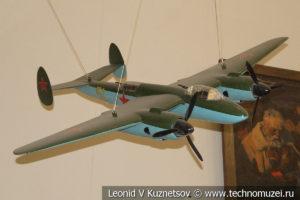 Модель пикирующего бомбардировщика Пе-2 в Центральном музее Вооруженных Сил