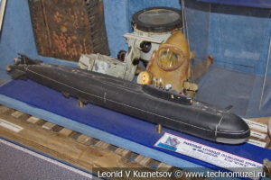 Ракетный атомный подводный крейсер проекта 949А Антей в Центральном музее Вооруженных Сил