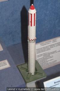 Модель ракеты-носителя среднего класса Зенит в Центральном музее Вооруженных Сил