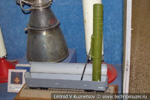 Модель пусковой установки боевого железнодорожного ракетного комплекса в Центральном музее Вооруженных Сил