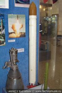 Модель двухступенчатой межконтинентальной баллистической ракеты 15А16 шахтного базирования в Центральном музее Вооруженных Сил