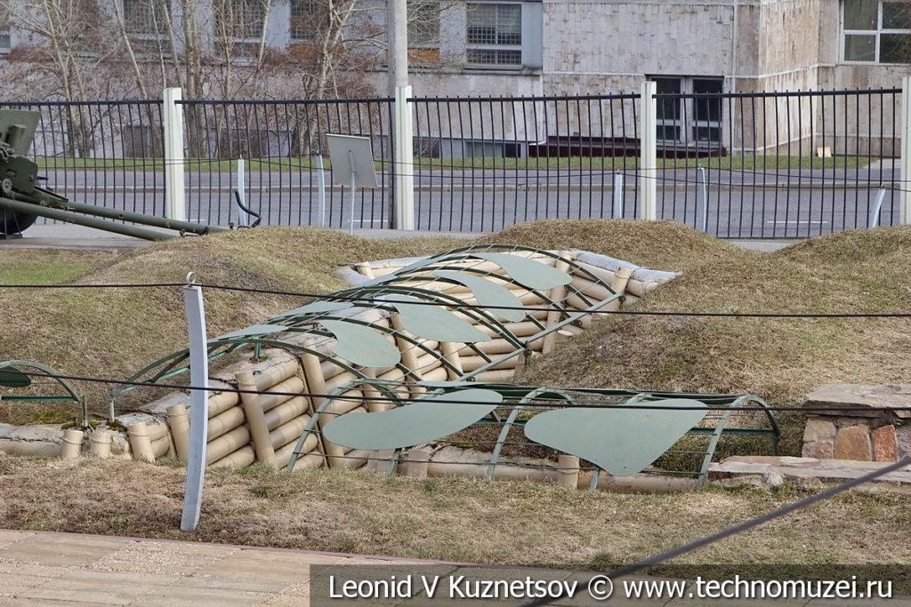 Вынесенная площадка для пулемета в траншее в Музее на Поклонной горе